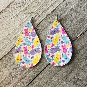 Peeps Easter Leather Earrings